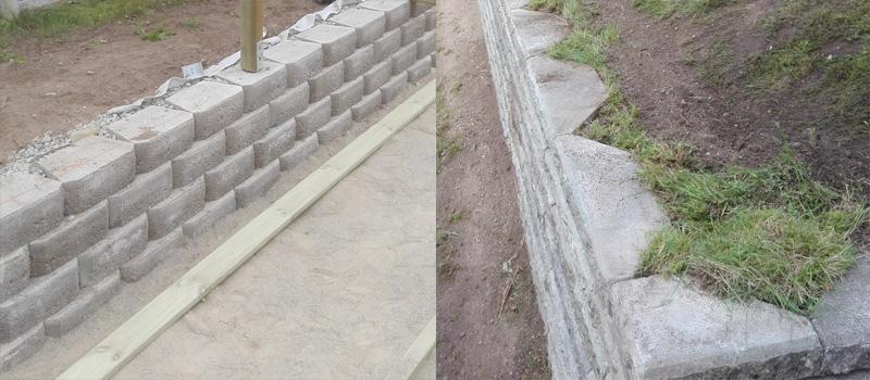 Bygga mur kostnad