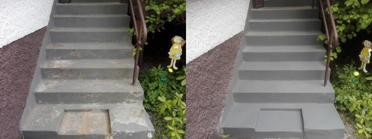 renovering av stentrappa