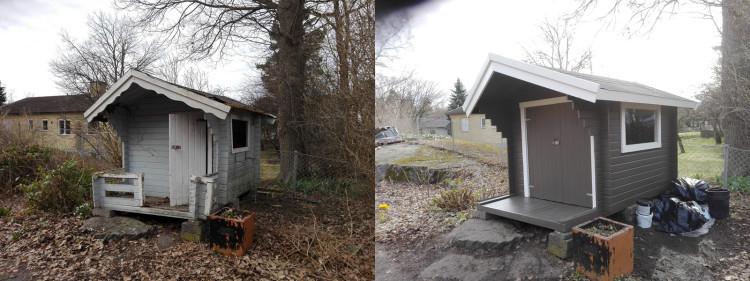 renovering av lekstuga i örby